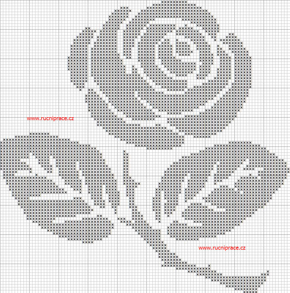 photo regarding Needlepoint Patterns Free Printable named Rose, practice, cross sch, free of charge designs, totally free cross