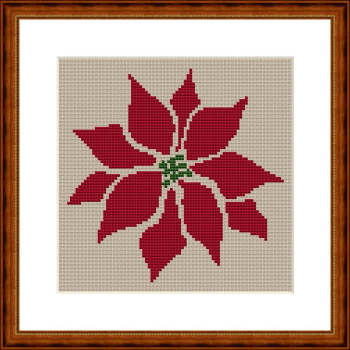 Free Poinsettia Squares Afghan Pattern [FP177] - $0.00 : Maggie