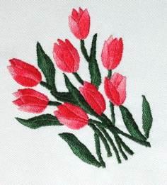 Vyšívání tulipány