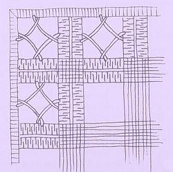 Prolamovaná mřížka se smykovacími stehy