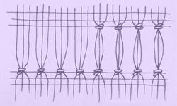 Ažura - základní mřížka