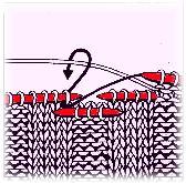 Složitější křížení většího počtu ok se dvěma pomocnými jehlicemi