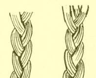 Vázání copánků u tkaných výrobků