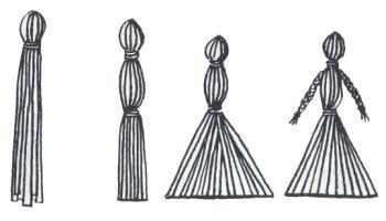 Figurky ze slámy