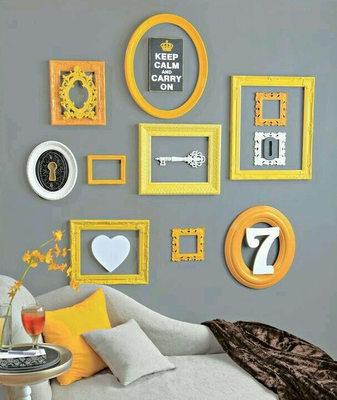 Natřené dekorativní rámečky