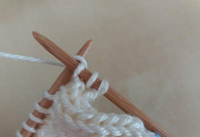 Oprava chyby při pletení