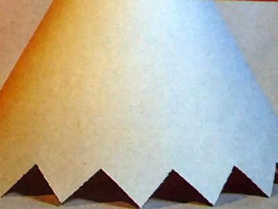 Papírové stínítko na lampu