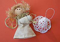 Háčkovaný vánoční zvoneček