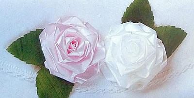 Dekorační růžičky ze stuhy